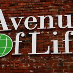 Acrylic letter sign for Avenue of Life in Kansas City KS