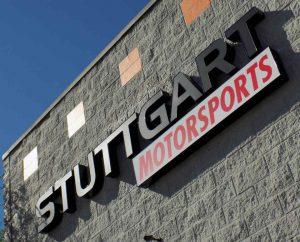 Lighted Letters Metal Channel Letter Sign for Stuttgart Motorsports in Merriam KS
