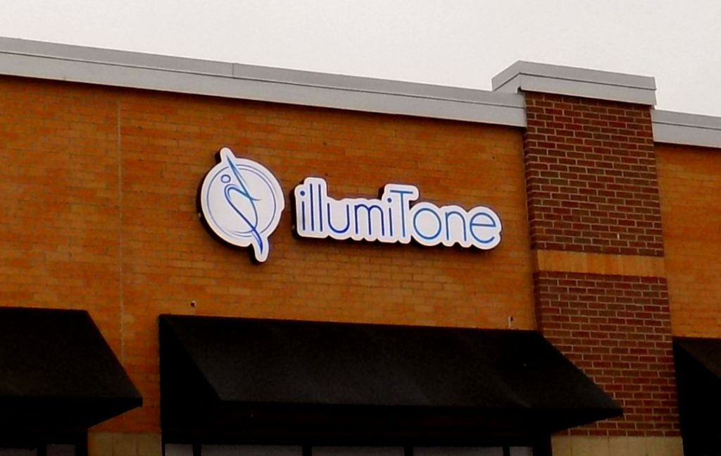 Lighted Channel Cabinet Sign at illumiTone Overland Park KS
